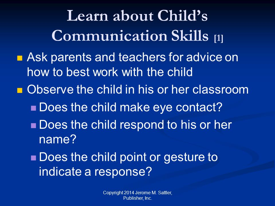 Learn about Child's Communication Skills [1]